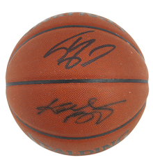 Lakers Kobe Bryant & Shaquille O'Neal Authentic Signed Basketball BAS #A39843